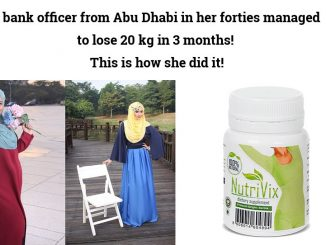 A bank officer from Abu Dhabi in her forties managed to lose 20 kg in 3 months!
